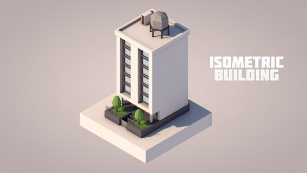 Isometric Building by Abstract Arts, via Behance