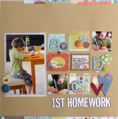 grid: Scrapbook Ideas, Kathy Link, Layout Ideas, Scrapbook Inspiration, Scrapbook Layouts1, Schools Scrapbook, Scrap Schools, Scrapbook Embellishments, Schools Layout