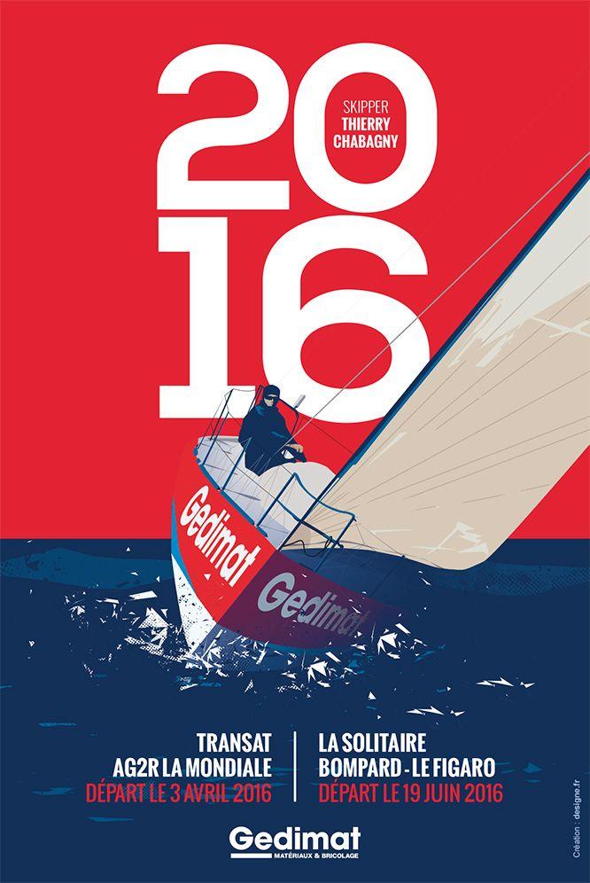 Affiche de la saison Figaro 2016 de Gedimat et Thierry Chabagny