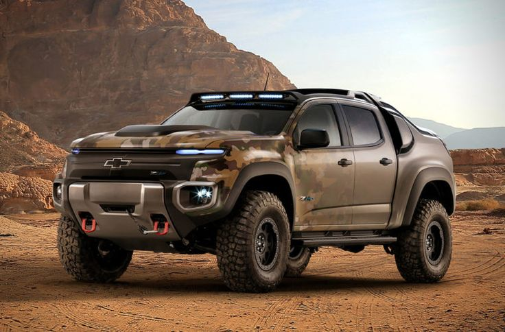 CHEVY COLORADO ZH2 FUEL CELL ARMY VEHICLE