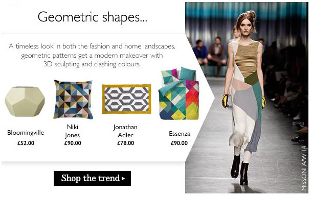 GEOMETRIC SHAPES - Amara - trends translating from fashion AW14