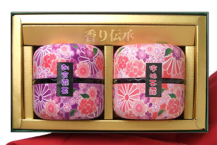 Japanese tea packaging. Lovely colors and motif.