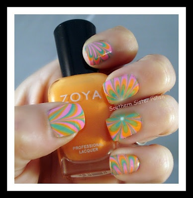 Water Marble using the Zoya Nail Polish Beach Collection!