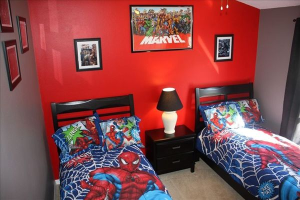 boys spiderman bedroom ideas | ... bedroom theme ideas kids wall lights with creative wooden themes kids