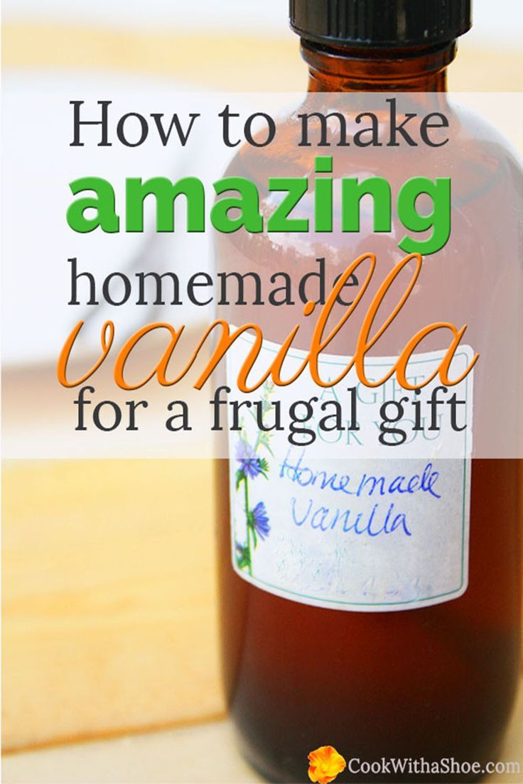 Homemade vanilla is super easy and makes a wonderful gift! Your friends and family will come back for more. Tutorial by Cook With a Shoe.
