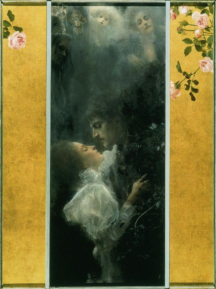 グスタフ・クリムト-愛- 愛 (Liebe) 1895年