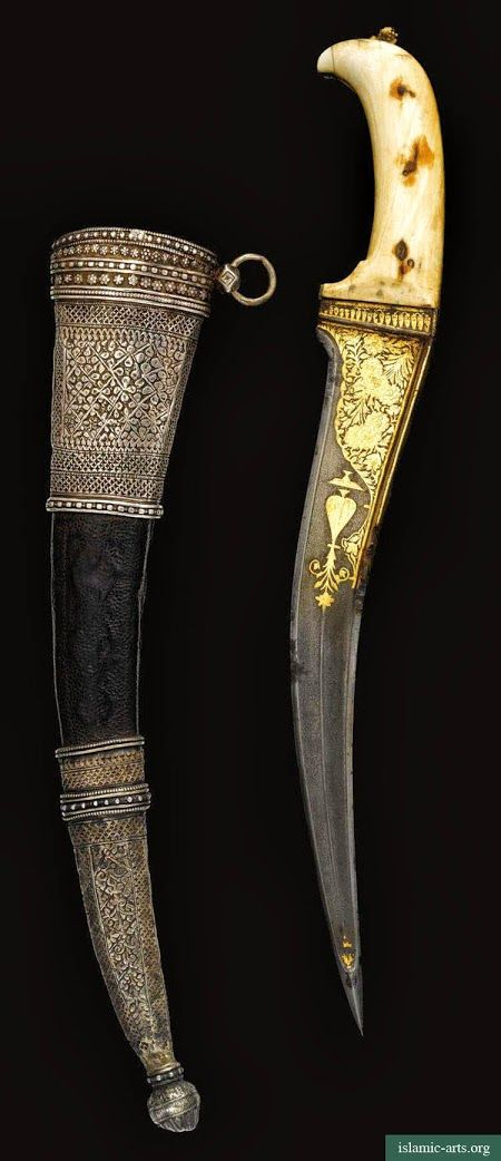 AN IVORY-HILTED DAGGER (PESHKABZ) WITH SILVER-MOUNTED SCABBARD, INDIA, 18TH-19TH CENTURY