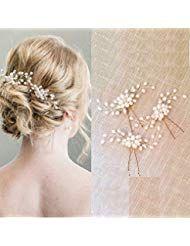 Damen Haarspangen Haarnadeln Haarkammer Vintage Hochzeit Kopfschmuck mit Krist …