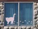 Glas decoratieve tatoeage ul632 Grote kat