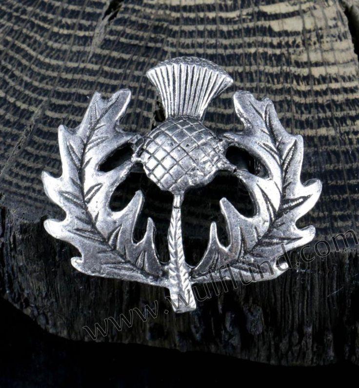 Broche - chardon écossais comme un symbole national d'Alba (Ecosse). Taille: 2.3…