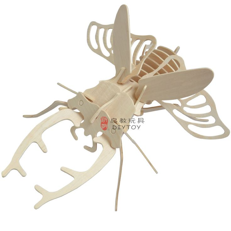 Beetle----Woodcraft Construction Kit Kid Wooden Building Puzzle Model Game