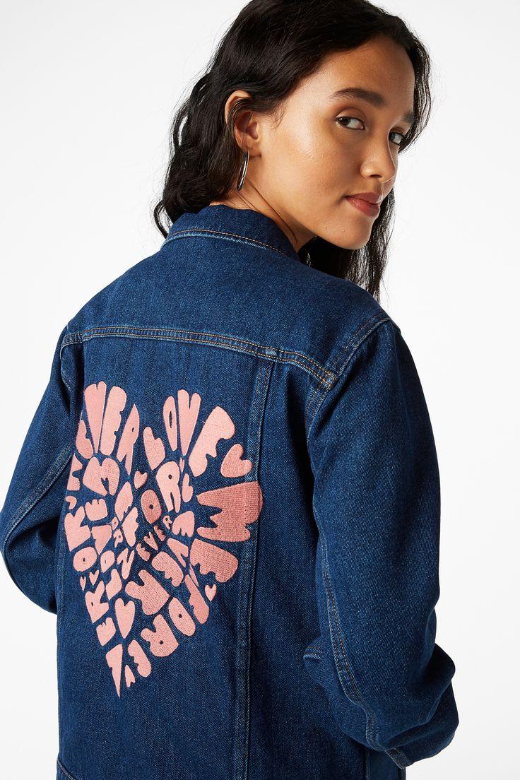 NEW!Denim embroidered jacket