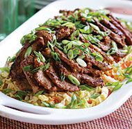 Spicy Korean-Style Pork Medallions with Asian Slaw