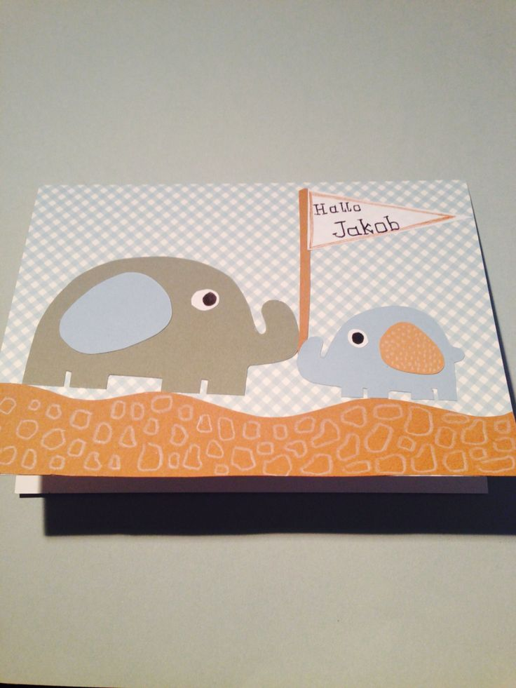 """""""Welcome baby"""" greeting card"""
