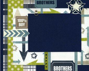 Cherished Baby Boy 12x12 Premade by SusansScrapbookShack on Etsy