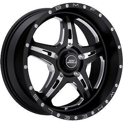 20x9 Black BMF FITE 5x150 0 Rims W/ Nitto Mud Grappler 35x12.50R20LT Tires New