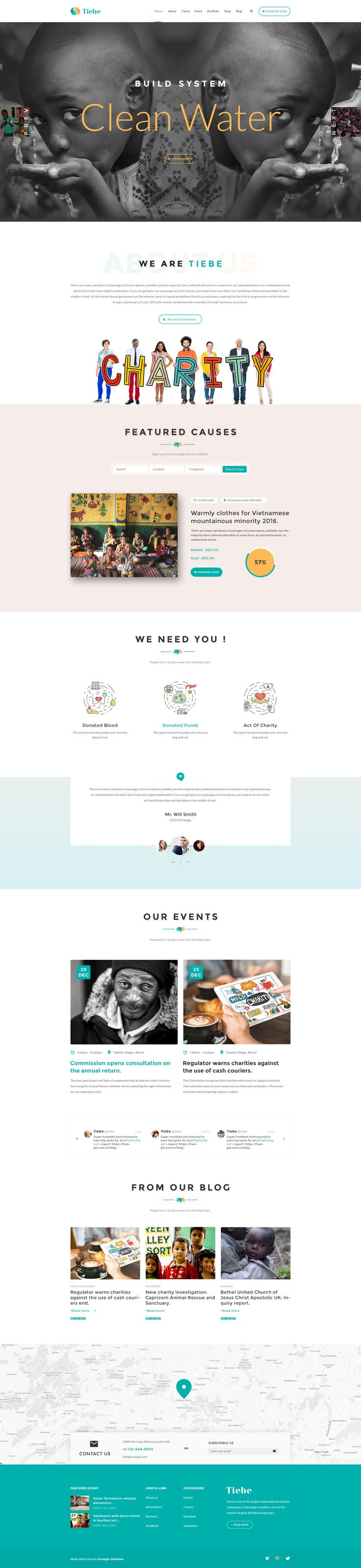 Tiebe Charity Non-profit PSD Template. #psd #template #tiebe • Download ➝ https://themeforest.net/item/tiebe-charity-nonprofit-psd-template/19606609?ref=pxcr
