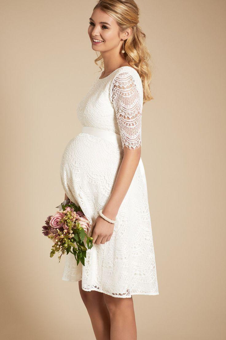 A-Line Umstandsbrautkleid mit Rückenausschnitt - Hochzeit