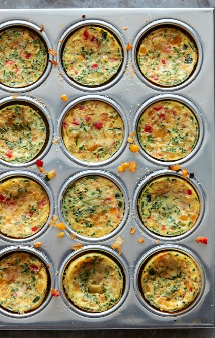 The BEST and easiest breakfast - Petite Vegetable Frittatas from www.whatsgabycooking.com (@whatsgabycookin)