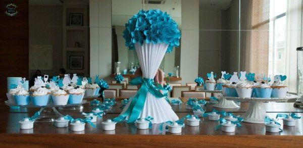 Bola de Sakuras em Origami e Vaso Plissado