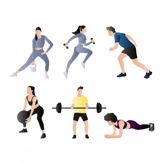 Set Of Gym Workout People Gym Body Vector Png And Vector With Transparent Background For Free Download Entrenamiento De Gimnasio Deportes Dibujos Dibujos Animados De Personas
