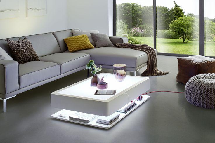 Ora Home Led Pro Beleuchtung Wohnzimmer Couchtisch Weiss