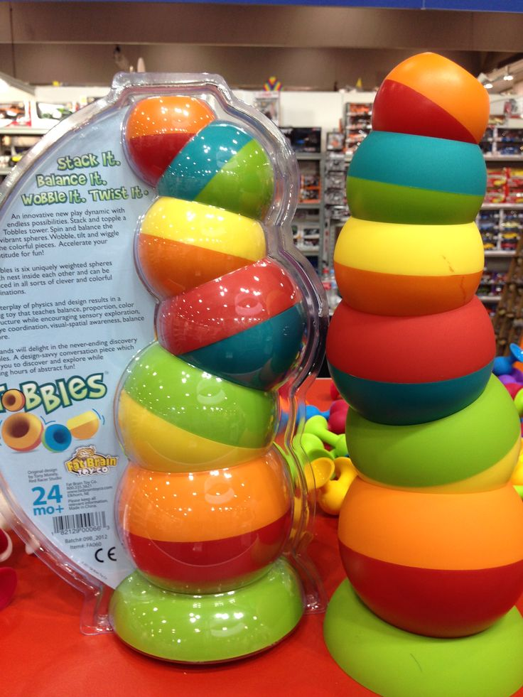 These six weighted spheres nest inside each other & can be balanced in all sorts of colourful combos! #toyfair