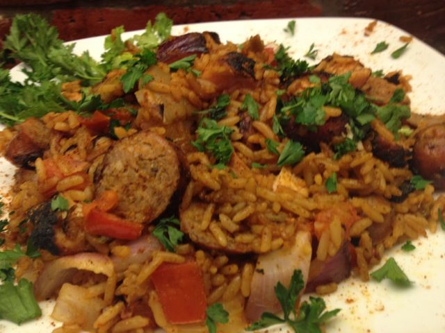 Cooking with this Grilled Jambalaya. Used POWER on Chicken, Sausage ...