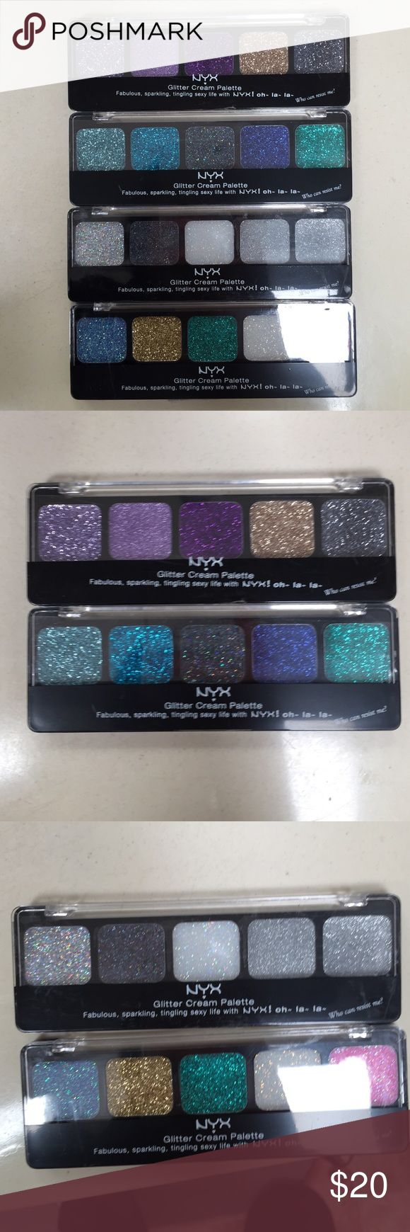 NYX Glitter Cream Palette Bundle Brand new. Includes 4 different colors NYX Makeup