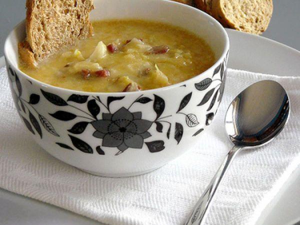 Zuppa di cavolo cappuccio e pancetta, Ricetta da Cipolla - Petitchef