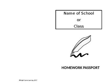 The Homework Passport is a document which teachers can use to track student's submission of homework assignments. Students are asked to present the passport along with their work and the teacher would stamp, sign and date a page in the book similar to the process at immigration desks while travelling.