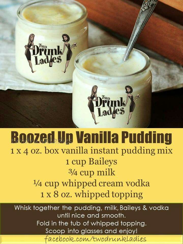 Boozy vanilla pudding