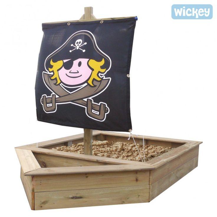 Sandkasten King Kong Piratenschiff aus Holz, Wickey Kinder sandkästen mit phantasie