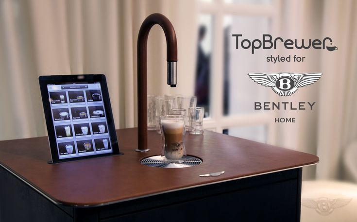 #BentleyHome #Bentley #CoffeeMachine #TopBrewer #Design #iPadControl #Cabinet