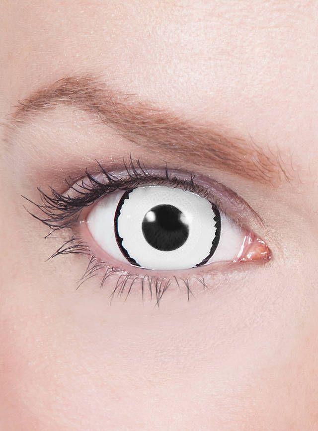 Mini-Sclera weiß-schwarz Kontaktlinsen #contactlenses #cosplay #halloween #sfx #black #white