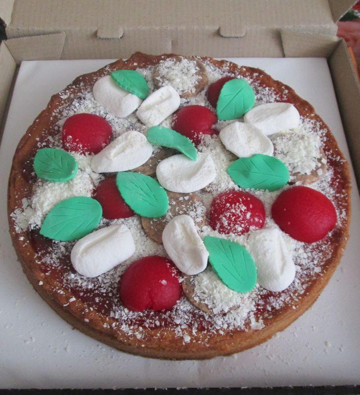 Tomato & Mozzarella Pizza Cake for MAtt's 16th Birthday