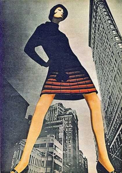 1960s Mod Fashion / Photo / Illustration / Retro Fashion / Mixed Media