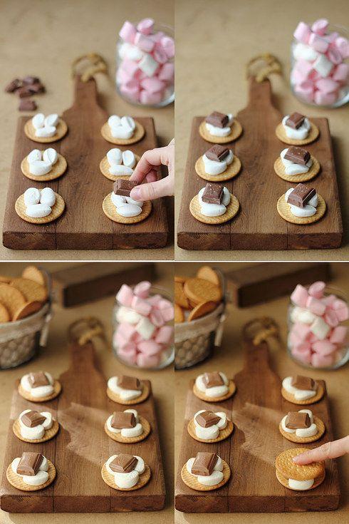 Galletas con malvaviscos y chocolate: | 20 Recetas deliciosas que puedes hacer con galletas María