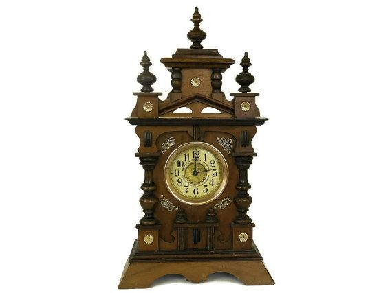 Antique French Mantle Clock with Wind Up Music by LeBonheurDuJour