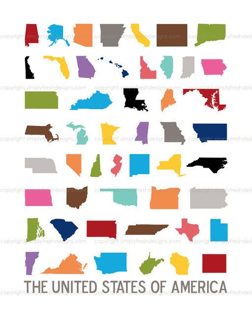Best States And Capitals Images On Pinterest States - Us map initials