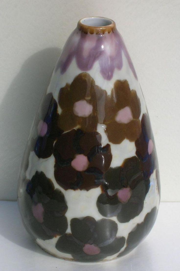 THARAUD porcelaine LIMOGES  vase ART DECO  H18cm | Le Guide des Antiquaires