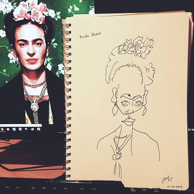Maybe with colour  #fridakahlo #frida #kahlo #blindcontour #art ️ #drawing #penonpaper #illustration #프리다칼로 #펜그림 #일러스트 #boahndesign