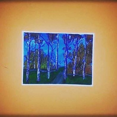 #pain #pastel #painting #tempera #temper #picture #pictures #forest #les #tree #strom #krajina #krajinka #obrazok #obraz #obloha #jesen #jeseň #autumn #malba #maľba #umenie #art