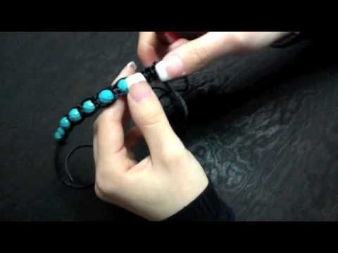 How to make Adjustable Beaded Bracelet.