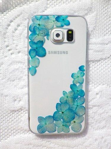 Pressed flowers phone case, Samsung Galaxy S6 Edge case