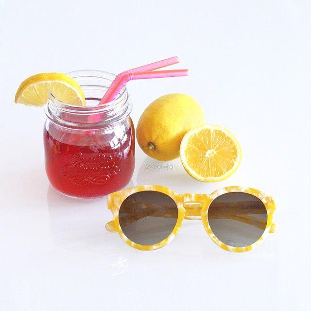 tea, strawberry, lemon, sunglasses, tasty, fresh
