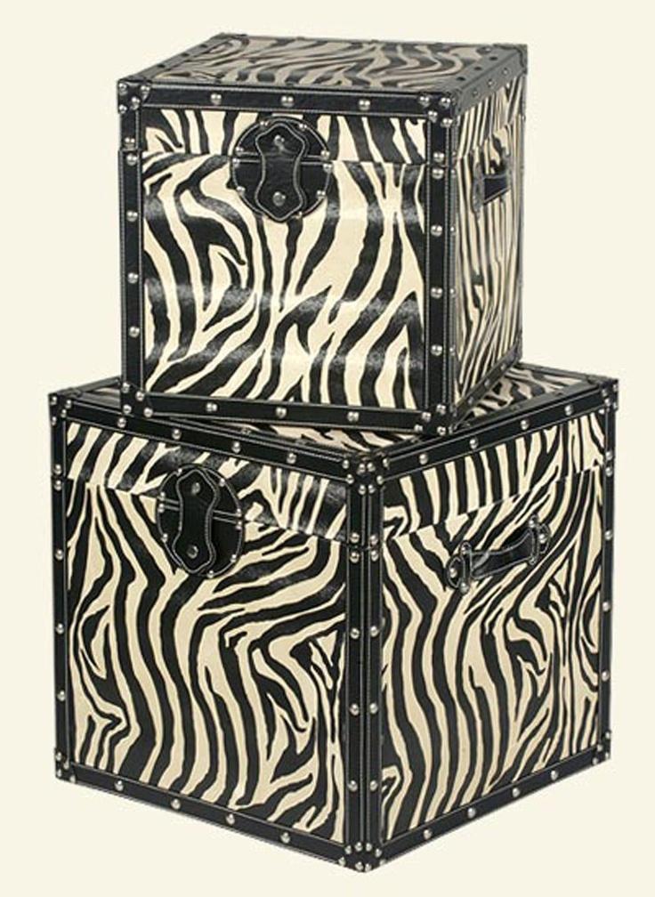 Captivating Zebra Storage Trunks!