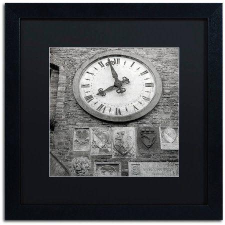 Trademark Fine Art Il Grande Orologio Iii Canvas Art by Alan Blaustein, Black Matte, Black Frame, Gray