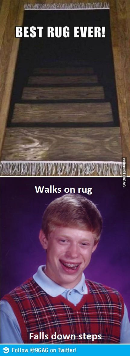 Bad Luck Brian walking