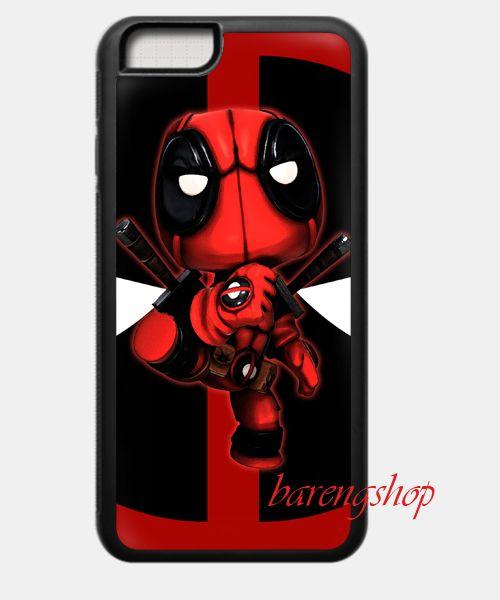 Custom Case Deadpool Pose iPhone 6 Rubber Case